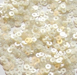 Value Pack 2.5mm Satin Pearl Flat Round Sequins x 50g